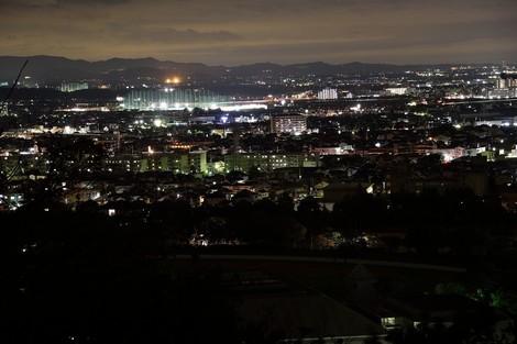 生石(おうしこ)神社の山上公園の夜景  [兵庫県高砂市]