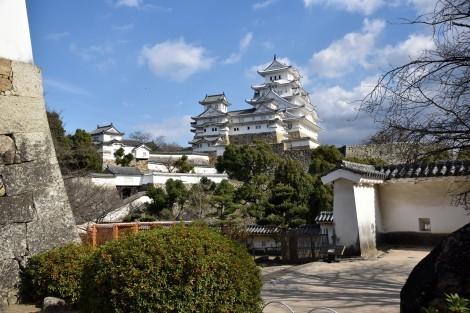 姫路城 化粧櫓前から見た大天守