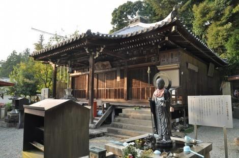 法華山  一乗寺 「お水かけ地蔵菩薩」像と 「粟嶋堂」